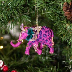 Assorted Fantasy Elephant Resin Tree Decoration