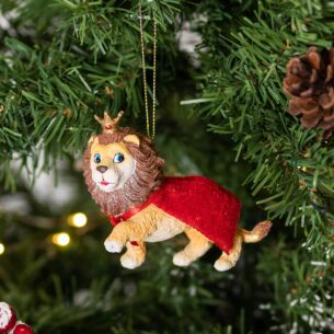 Resin Lion with Cape Tree Decoration