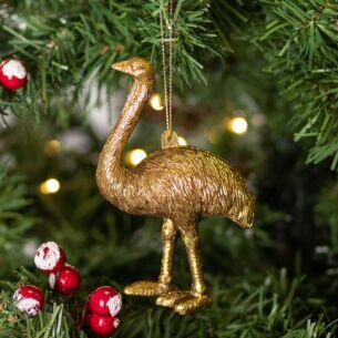 Gold Acrylic Ostrich Tree Decoration