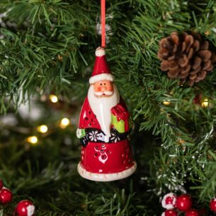 Ceramic LED Santa Tree Decoration