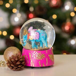 Fantasy Elephant Musical Snow Dome Decoration