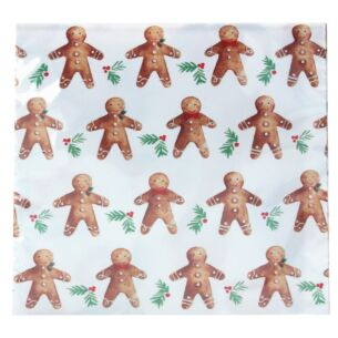 Set of 20 Gingerbread Men Paper Napkins