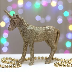 Gold Glitter Unicorn