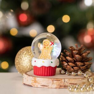 Gingerbread Man Mini Snow Dome Decoration