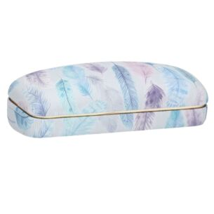 Gisela Graham Pastel Feathers Glasses Case