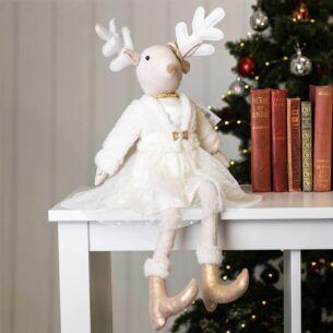 Fabric Princess Reindeer Ornament