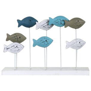 Gisela Graham Large Fish Shoal Wooden Ornament