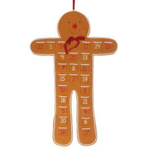 Large Felt Gingerbread Man Advent Hanger