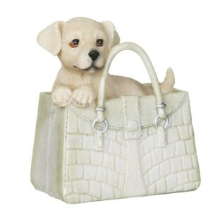 Resin Puppy On Handbag Decoration