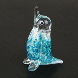 Temptation Glass Animal Blue Penguin