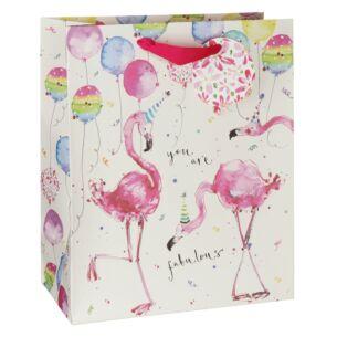 Louise Mulgrew Fun Flamingo Large Gift Bag