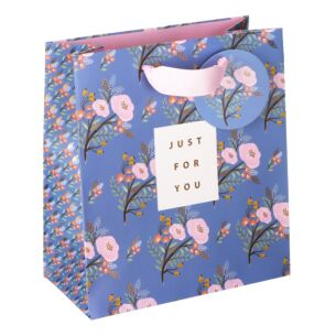 Stephanie Dyment Blue Floral Medium Gift Bag
