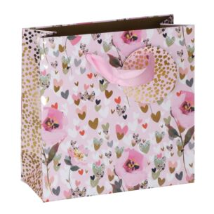 Stephanie Dyment Hearts & Flowers Small Gift Bag
