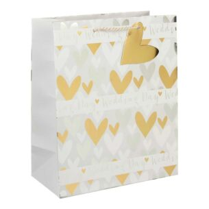 Wedding Day Hearts Large Gift Bag