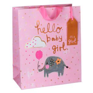 Paper Salad Baby Girl Large Gift Bag