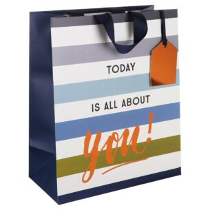 'All About You' Homme Large Gift Bag