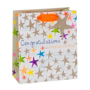Congratulations Stars Medium Gift Bag