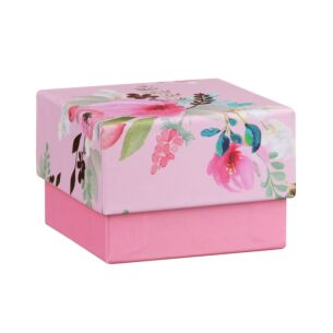 Pink Floral Small Jewellery Gift Box