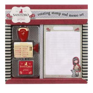 Little Red Riding Hood Rotating Stamp and Memo Pad Set