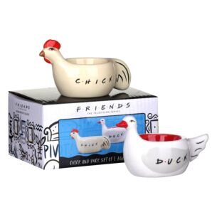 Set Of Two Chick And Duck Egg Cups
