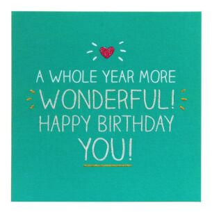 Whole Year More Wonderful! Card