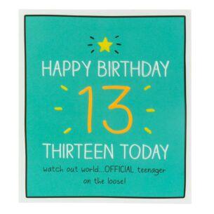 'Thirteen Today' Card