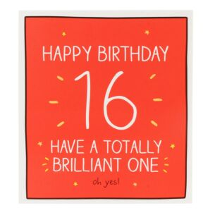 '16 Have a Totally Brilliant One' Card
