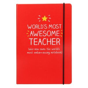 'World's Most Awesome Teacher' A5 Notebook