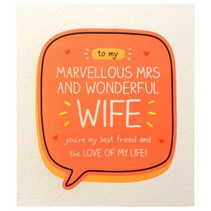 Marvellous Mrs and Wonderful Wife Valentine Card
