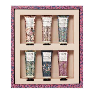 William Morris At Home White iris & Amber Set Of 6 Hand Cream