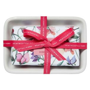 Sweet Pea & Honeysuckle Scented Soap in Dish