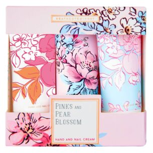 Pinks and Pear Blossom Set of 3 Hand and Nail Cream