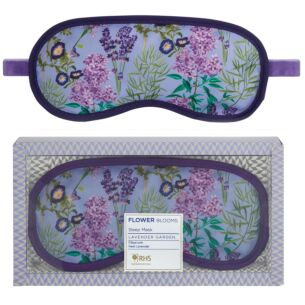 RHS Flower Blooms Lavender Garden Sleep Well Lavender Filled Eye Mask