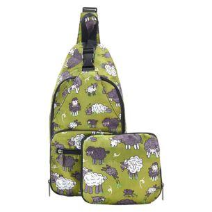 Green Sheep Recycled Foldaway Crossbody Bag