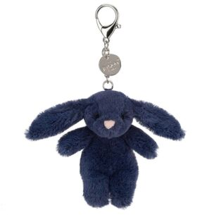 Jellycat Bashful Bunny Navy Bag Charm