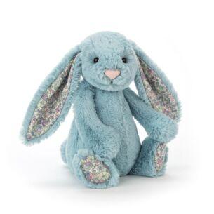 Small Blossom Aqua Bunny