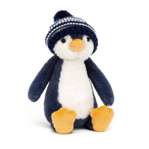 Bashful Bobble Hat Penguin Navy