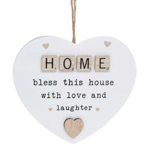 Home Scrabble Sentiment Hanging Heart