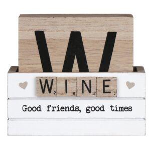 Set of 6 Scrabble 'Wine' Coasters