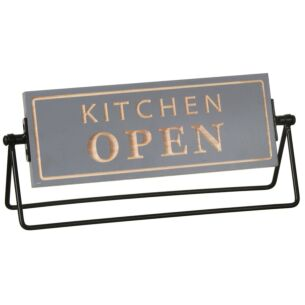 Moving Memo 'Kitchen Open' Plaque
