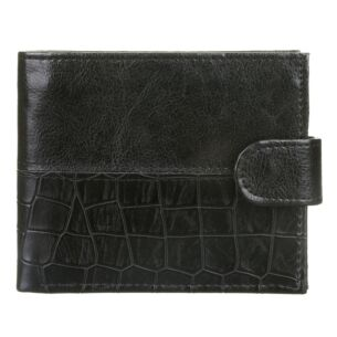 Men's Black Croc Print Wallet
