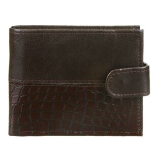 Men's Brown Croc Print Wallet