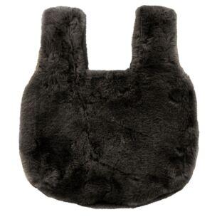 Black Faux Fur Handbag