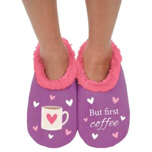 Snoozies 'But First Coffee' Slippers