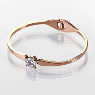 Bling Glam Crystal Rose Gold Plated Bangle