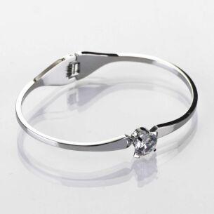 Bling Glam Silver Crystal Bangle