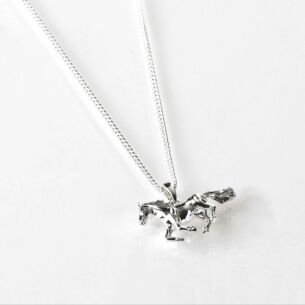 Country Horse Silver Plated Necklace