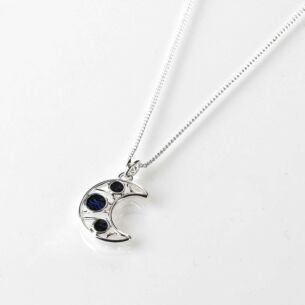 Mother of Pearl Moon Silver Plated Necklace