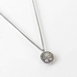 Tree of Life White Gold Plated Necklace