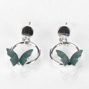 Sage Tones Butterfly Earrings